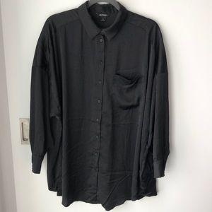 Black Satin tunic Shirt